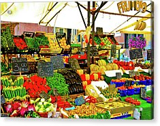 Acrylic Print featuring the photograph Fruttolo Italian Vegetable Stand by Harry Spitz