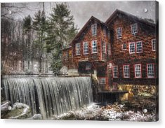 Frye's Measure Mill - Winter In New England Acrylic Print