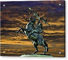Fsu's Unconquered Renegade And Osceola Acrylic Print