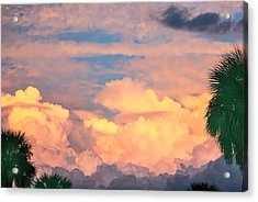Ft De Soto Sunset Clouds Acrylic Print