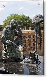 Ft. Hood War Memorial Acrylic Print by Linda Phelps