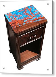 Ft Lauderdale In Resin - End Table Acrylic Print by Jason Charles Allen