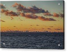 Acrylic Print featuring the digital art Miami Sunset by John Haldane