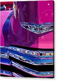 Fuchsia And Chrome Acrylic Print by Bob Nolin