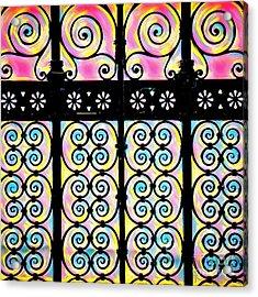 Fuchsia Gate  Acrylic Print