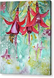 Acrylic Print featuring the painting  Fuchsia by Jasna Dragun