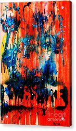 Acrylic Print featuring the painting Fueled By Desire by Roberto Prusso