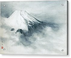 Fuji - Fresh Snow Acrylic Print by Suiko Sakurai