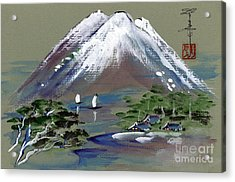 Fuji Acrylic Print by Linda Smith