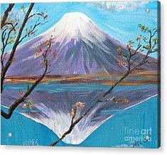 Fuji San Acrylic Print by Yael Eylat-Tanaka