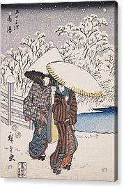 Fujisawa Acrylic Print by Hiroshige