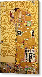 Fulfilment Stoclet Frieze Acrylic Print by Gustav Klimt