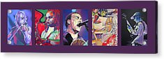 Acrylic Print featuring the drawing Full Band Set by Joshua Morton