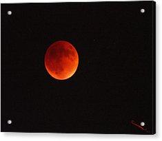 Full Blood Moon Eclipse  Acrylic Print by SM Shahrokni
