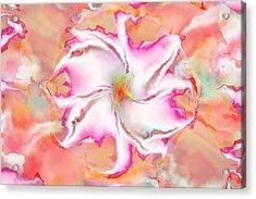 Acrylic Print featuring the digital art Full Bloom by Richard Ortolano