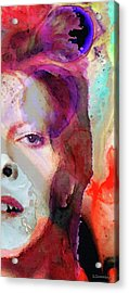 Full Color - David Bowie Tribute  Acrylic Print by Sharon Cummings