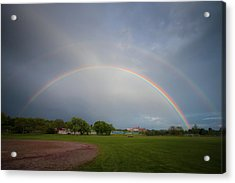 Full Double Rainbow Acrylic Print