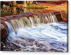 Acrylic Print featuring the photograph Full Flow, Noble Falls, Perth by Dave Catley