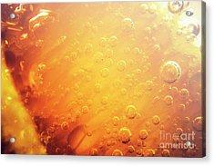 Full Frame Close Up Of Orange Soda Water Acrylic Print