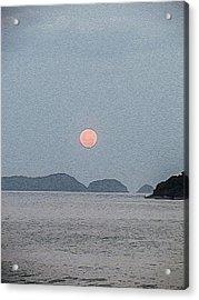 Full Moon At The Beach Acrylic Print