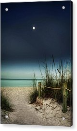 Full Moon Beach Acrylic Print