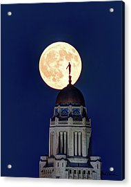 Full Moon Before The Eclipse Acrylic Print