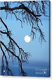 Full Moon Blue Sky Acrylic Print