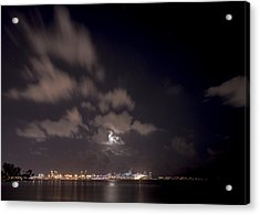 Full Moon In Miami Acrylic Print