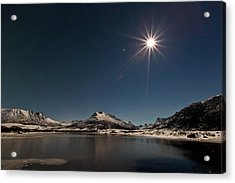 Full Moon In The Arctic Acrylic Print