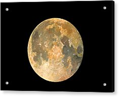 Full Moon Acrylic Print by Juan Bosco
