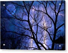 Full Moon Lighting Acrylic Print by Randy Steele
