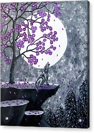 Acrylic Print featuring the painting Full Moon Magic by Teresa Wing