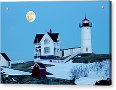 Full Moon Nubble Acrylic Print by Greg Fortier