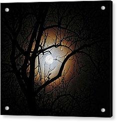 Full Moon Oil Painting Acrylic Print