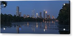 Full Moon Over Austin Acrylic Print