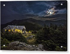 Full Moon Over Greenleaf Hut Acrylic Print