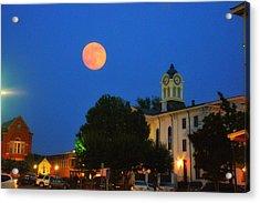 Full Moon Over Oxford  Acrylic Print