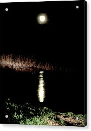 Full Moon Over Piermont Creek Acrylic Print