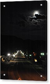 Full Moon Over Red River Acrylic Print
