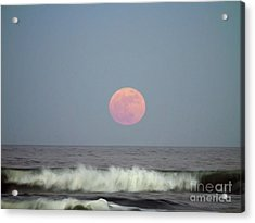 Full Moon Over The Atlantic Acrylic Print