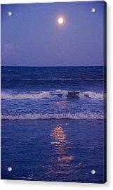 Full Moon Over The Ocean Acrylic Print