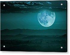 Full Moon Over Tuscany Acrylic Print