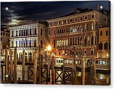 Acrylic Print featuring the photograph Full Moon Over Venice by Andrew Soundarajan