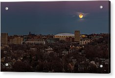 Full Moon Rising Acrylic Print by Everet Regal