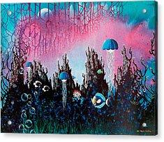 Full Moon Rising Acrylic Print by Lee Pantas