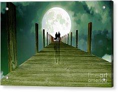 Full Moon Silhouette Acrylic Print