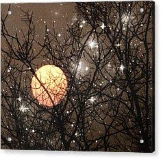 Full Moon Starry Night Acrylic Print