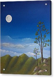 Full Moon Acrylic Print by Tony Rodriguez