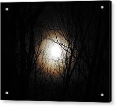 Full Pink Moon Rising Acrylic Print by Traci York
