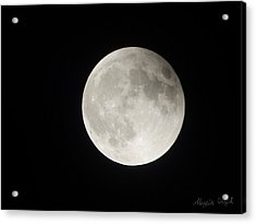 Full Planet Moon Acrylic Print
